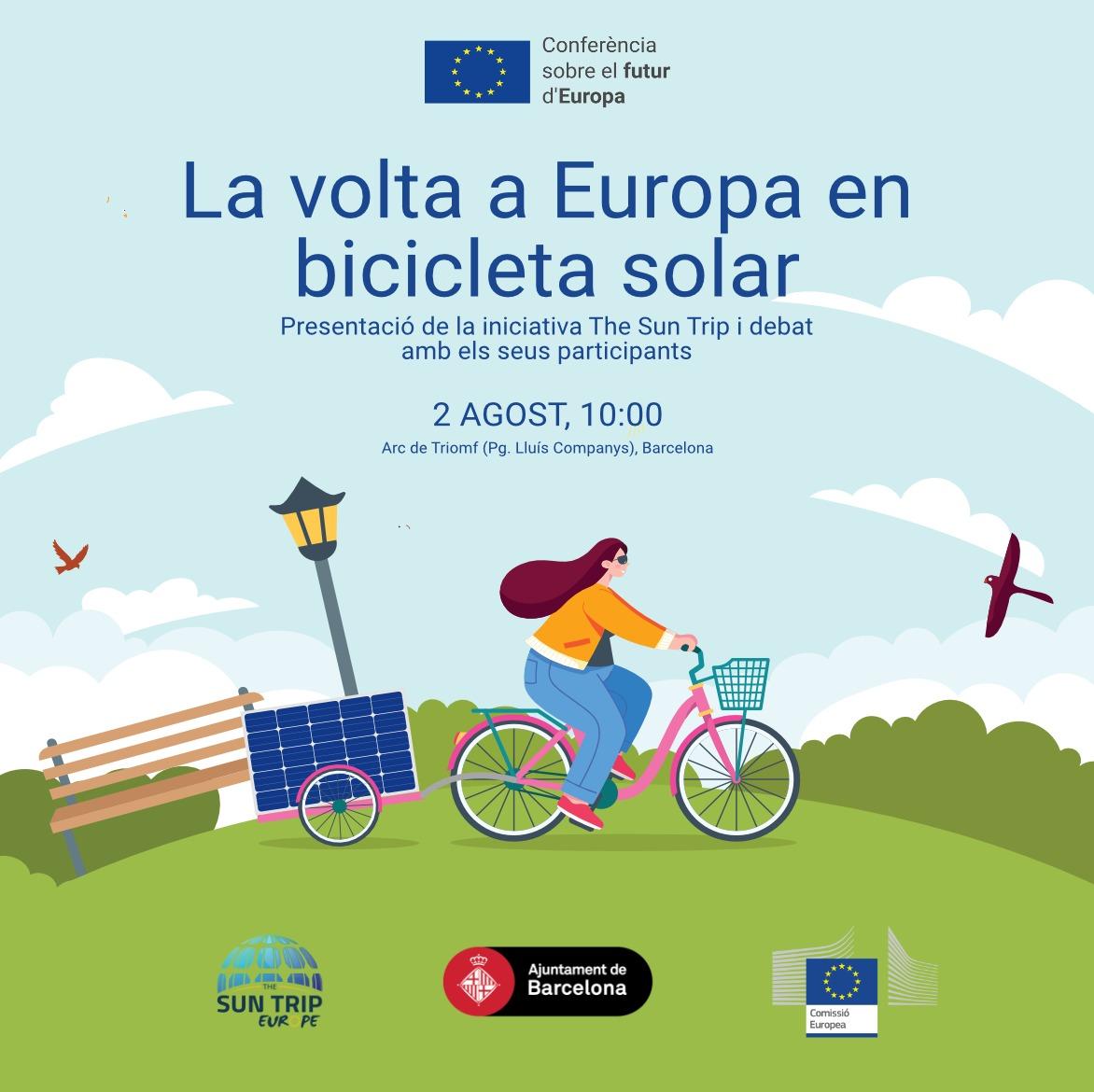 La volta a Europa en bicicleta solar